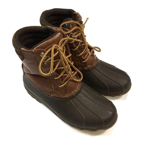 🐢Boys Sperry Waterproof Rubber Duck Boots 5